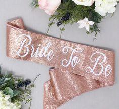 Rose Gold Glitter Bachelorette Sash - Bachelorette Party  - Future Mrs. Sash - Bride Sash - Bachelorette Party Sash - Bridesmaid Sash - Brid by LaurenLashDesignsLLC on Etsy https://www.etsy.com/listing/560989551/rose-gold-glitter-bachelorette-sash