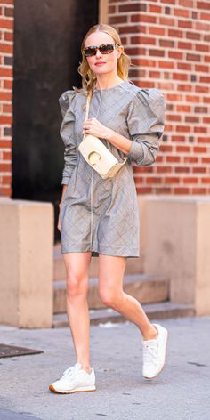 InStyle's Look of the Day picks for June 2019 include Kate Bosworth, Selena Gomez and Tessa Thompson. Sneakers Looks, Dress With Sneakers, White Sneakers, Kate Bosworth, Meghan Markle, Latest Outfits, Trendy Outfits, Chloe, Reebok