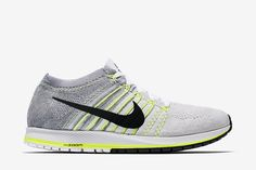 Nike Air Zoom Flyknit Streak 6 Unisex Racing Shoe: White/Volt/Pure Platinum