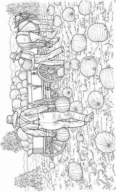 Fall Pumpkins Coloring Page