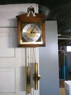 Vintage West Germany E. Schmeckenbecher H65 Chiming Pendulum Wall Clock No.7345