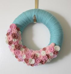 I have to figure out how to make this felt wreath