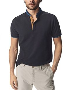 6ed4190f0878 Navifalcon Mens Short Sleeve Classic Fit Cotton Pique Polo Shirt  shirts   polo Navy Blue