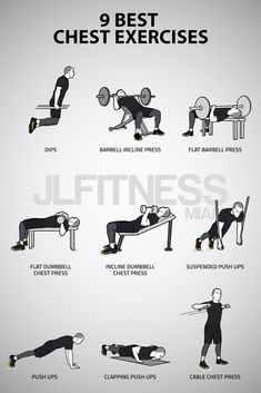 9 Best Chest Exercises - Workout at Home Dumbbell Chest Workout, Chest Workout For Mass, Chest Workout At Home, Chest Workout Women, Chest Workout Routine, Home Workout Men, Best Chest Workout, Dumbbell Workout, Chest Workouts With Dumbbells