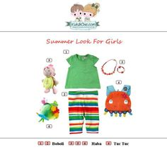 #Summer #look for #girls from #TucTuc #Boboli #Haba.  Check at www.kidsandchic.com/girl    #girlsclothing #girlsfashion #kidsfashion #trendychildren #kidsclothing #shoppingbarcelona #toys #tshirts #leggings #backpaks