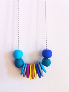 Multi-coloured Summer-Ready Clay Necklace