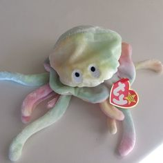 30f8047b5a8 TY Beanie Baby Goochy the Jellyfish MWT Original Size MWT Date of Birth  November 18