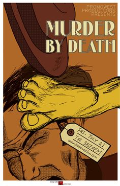 Murder by Death concert poster - TheEngineFace: Music With Guitars.