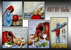 ♥ ♥ ♥ Secretary's Day, South African Artists, Spirituality, Bible, Posters, Paintings, Drawings, Biblia, Paint