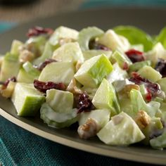 easy, salad, side, fruit, health, low calorie, low fat, low cholesterol, low carbohydrates, low sodium, heart healthy, WW, Plus, waldorf salad, food, recipe