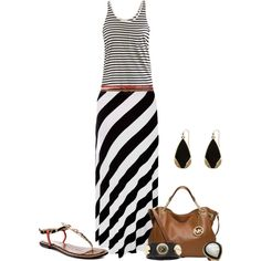 """Stripes on Stripes"" by fashionista88 on Polyvore"