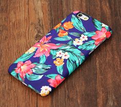 Classy Blue Floral Design iPhone 6 Case/Plus/5S/5C/5/4S Protective Case – Acyc
