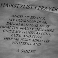 Hairstylists Prayer