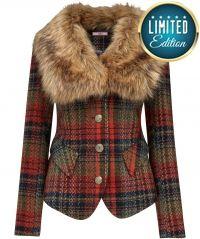 Joe Browns Funky Funtime Fur Collar Jacket