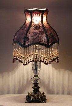 OOAK handmade handbeaded lampshade by MAJESTICILLUMINATION on Etsy, $400.00