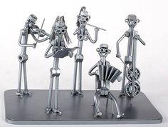 Orquesta clásica  MetalDiorama Metal arte escultura