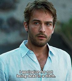 (gif) Tom Mison ~ I don't know what this is from, but doesn't he just look so cute?