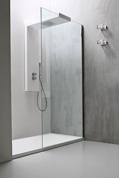 Minimalist Glass Shower Panels With Frameless Shower Door And Double Chrome  Handle Shower Faucet Feat Hand Shower In Small Stand Up Shower Ideas