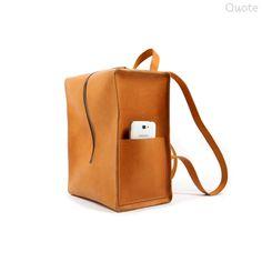 Quote studio Leather back pack /unisex handmade bag /unique Traveling Bag. $285.00, via Etsy.