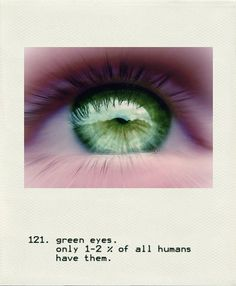 :)...I want to marry a man with green eyes...and a great sense of humor.