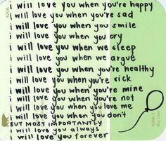 i will love you*