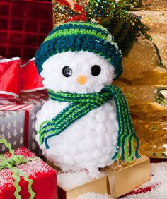 This cute snowman would be great as a decoration for your home or a present for your friends and family