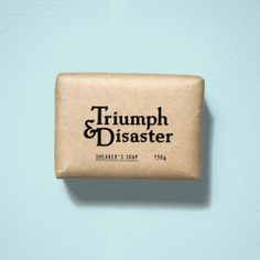 Triumph & Disaster  'Shearer's Soap' is made from a translucent base high in glycerin that makes it incredibly gentle on your skin. Poppy seeds assist exfoliation and provide a massaging effect that works in combination with our bespoke natural fragrance to create a complete cleansing experience. $14.95