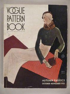 Vogue Pattern Book, Oct-Nov 1932 featuring Vogue 6094