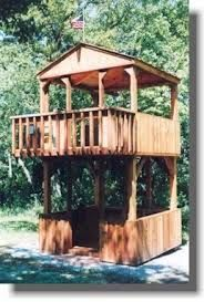 Image result for two story kids clubhouse with enclosed bottom