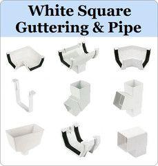 Virtual Plastics Ltd. White Square Gutter and Downpipe Range from £3.49