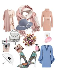 Chic grey look by highills on Polyvore featuring polyvore, fashion, style, STELLA McCARTNEY, Valentino, Milly, Christian Louboutin, L.K.Bennett, Ashlyn'd, Kate Spade, H&M, Victoria's Secret and clothing