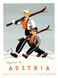 Vintage Snow is the place for vintage ski art. We specialize in vintage ski advertising art. Original and reproduction vintage ski art prints and posters. Ski Austria, Austria Travel, Visit Austria, Old Poster, Retro Poster, Poster Poster, Vintage Ski Posters, Vintage Ads, Vintage Sport
