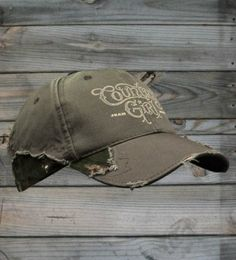 Country Girl ® Logo Frayed Camo Cap  #CountryGirl #Caps #WomensAccessories