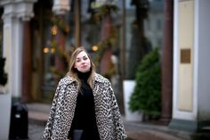 leopard coat blogger