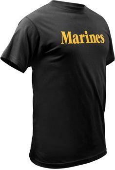 Men's Officially Licensed Black Marines T-Shirt