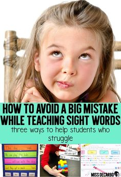 Learn three ways to help students who struggle with sight word recognition and identification within the primary classroom. Learn how to introduce sight words, play with sight words, and practice sight words within the context of a story. Learning to Read Learning Sight Words, Sight Word Practice, Sight Word Games, Sight Word Activities, Reading Activities, Preschool Activities, Preschool Alphabet, Reading Games, Reading Strategies