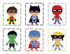 superhero printable for making patterns!