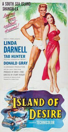 Island of Desire Stars: Linda Darnell, Tab Hunter, Donald Gray, John Laurie ~ Director: Stuart Heisler John Laurie, The Quiet Man, Tab Hunter, Top Film, Cinema Posters, Original Movie Posters, Movie Photo, Pop Singers, Old Movies