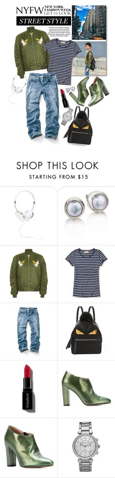 """""""NYFW Street Style: Day Two"""" by shortyluv718 ❤ liked on Polyvore featuring Frends, Hollister Co., Fendi, Smashbox, Jean-Michel Cazabat, Michael Kors and NYFW"""