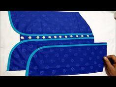 New Kriti Boutique - YouTube Collar Kurti Design, Kurti Sleeves Design, Sleeves Designs For Dresses, Fancy Blouse Designs, Bridal Blouse Designs, Saree Blouse Designs, Blouse Patterns, Chudi Neck Designs, Sleeve Designs