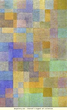 Paul Klee - Polyphony - On a fashion board as it reminds me of fabric and texture.