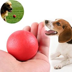 Toy Ball for Dogs - Dental Treat, Bite Resistant, Indestructible Non-Toxic Strong Tooth Cleaning Dog Toy Balls for Pet Training, Playing, Chewing - Soft Rubber, Bouncy, Tennis Ball -- Learn more by visiting the image link.