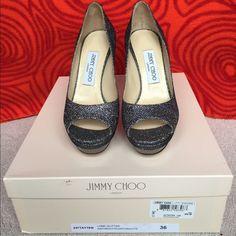 "Jimmy Choo Lame Glitter size 36, 4"" heels. 4"" heels, almost brand new. Jimmy Choo Shoes Heels"