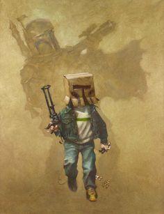 In a Backyard Far Far Away Series: Star Wars - Boba Fett by Craig Davison *