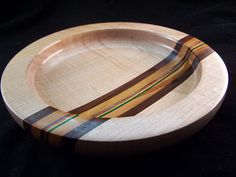 Wood Bowl  Highly Fiddled Maple  Wood Turned by AkitaWoodWorks, $85.00