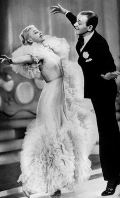 Ginger Rogers and Fred Astaire in Swing Time (George Stevens, 1936)  via hedda-hopper