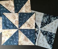 Learn to make fast Pinwheel blocks with only two squares of fabric!