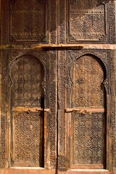 Handsomely carved doors, Belghazi family museum, north of Sale