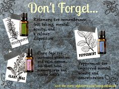 Where did I put my keys? Essential Oils for Memory and Mental Acuity