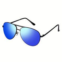 Nuova offerta in #abbigliamento : Smileyes Occhiali da sole a specchio polarizzati Stile Aviator#TSGL001 (Blu) a soli 12.74 EUR. Affrettati! hai tempo solo fino a 2016-09-18 23:29:00
